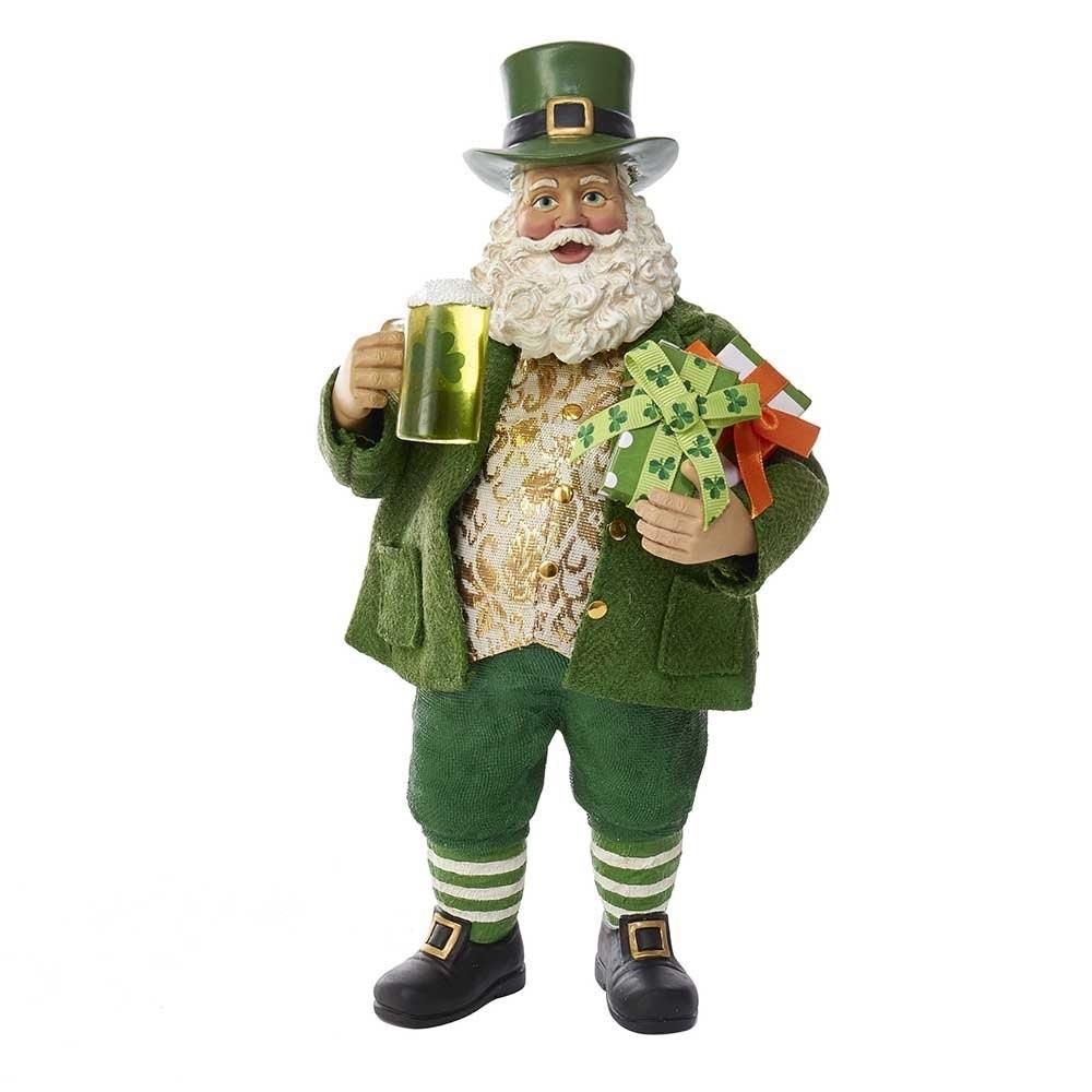Irish Santa Figurine with Gifts