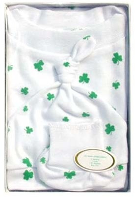 Irish Shamrock Infant Homecoming Outfit