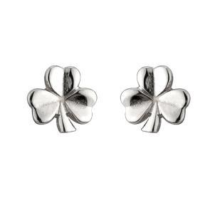 Irish Shamrock Tiny Earrings Sterling Silver
