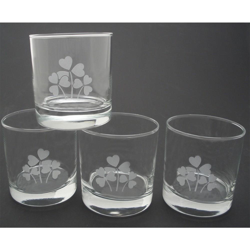 Irish Shamrock Whiskey Glasses