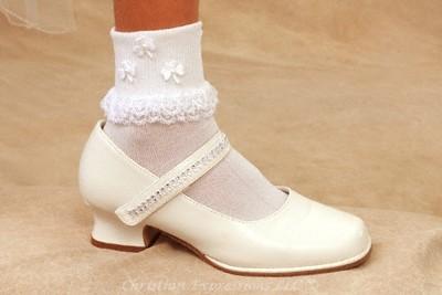 Irish Shamrocks First Communion Anklets for Girls