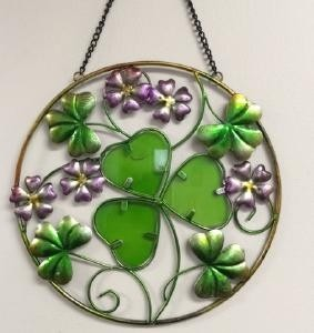Irish Shamrocks Garden Suncatcher