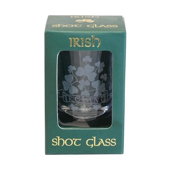 Irish Shamrocks Shot Glass