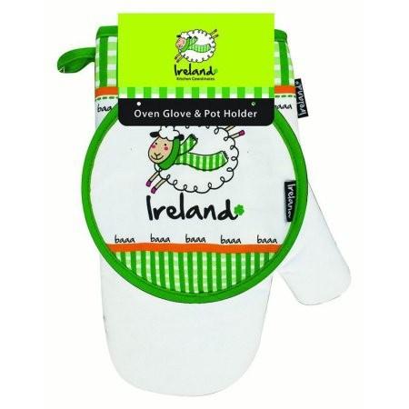 Irish Sheep Oven Glove and Pot Holder