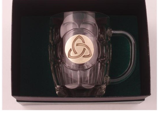Irish Trinity Knot Beer Tankard Gold