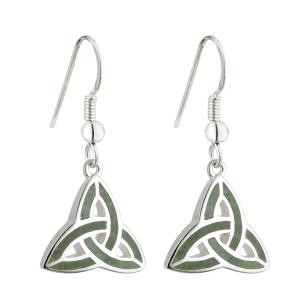 Irish Trinity Knot Connemara Earrings Sterling Silver