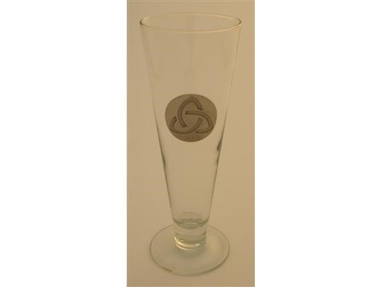 Irish Trinity Knot Pilsner 16 oz. Footed Beer Glass