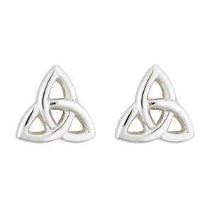 Irish Trinity Knot Tiny Earrings Sterling Silver