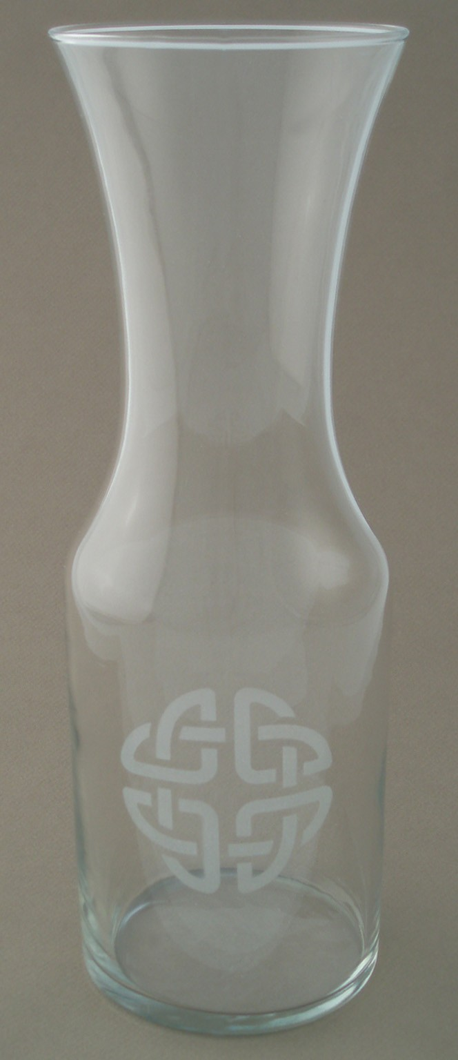 Irish Wine Carafe Etched Celtic Knot