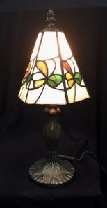 Multi Colored Irish Shamrocks Glass Accent Lamp