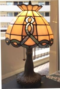 Multi Colored Irish Celtic Stained Glass Lamp