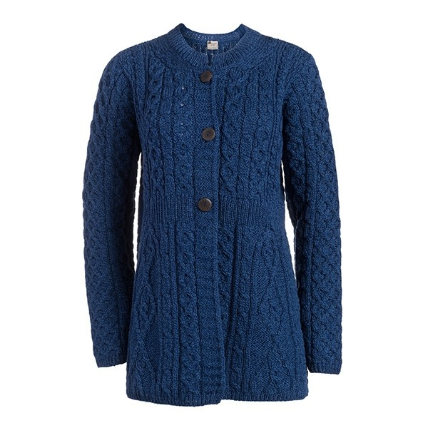 Ladies A Line Wool Irish Cardigan