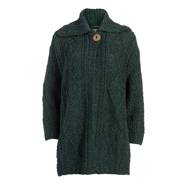 Ladies Single Button Irish Wool Coat
