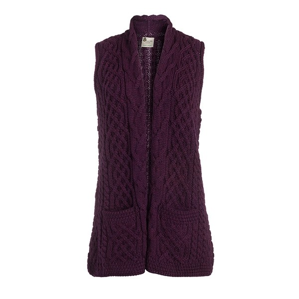 Ladies Wool Irish Celtic Cardigan Vest