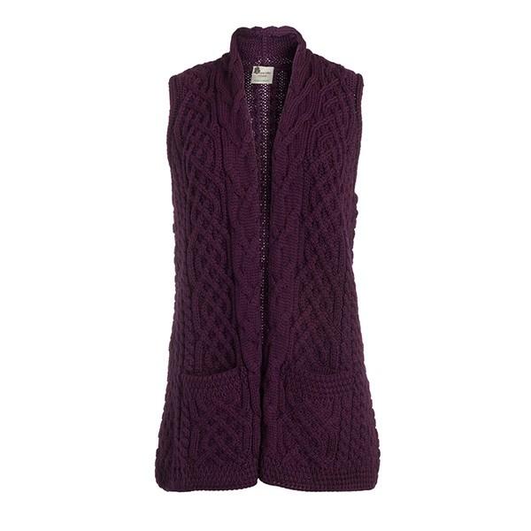 Ladies Wool Irish Celtic Cardigan Vest