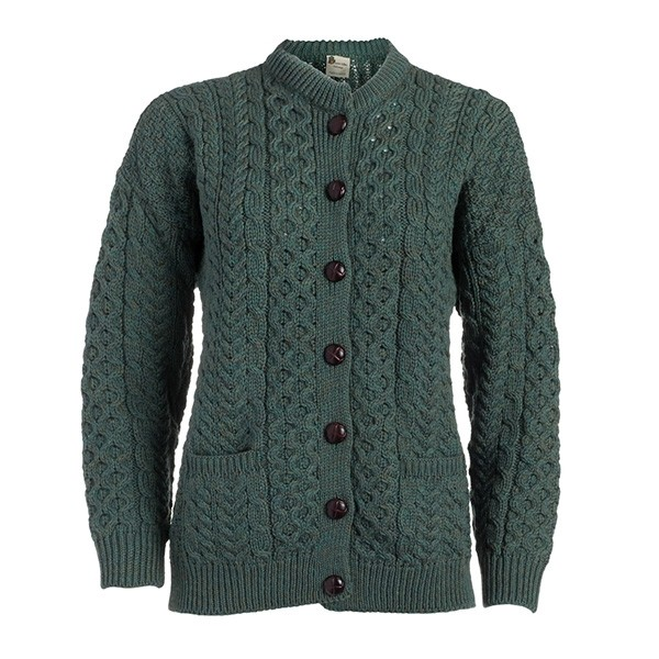 Ladies Wool Lumber Irish Cardigan