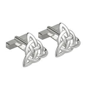 Irish Trinity Knot Sterling Silver Large Mens Cufflinks