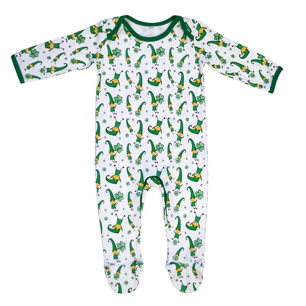 Leprechaun and Shamrock Irish Baby Romper