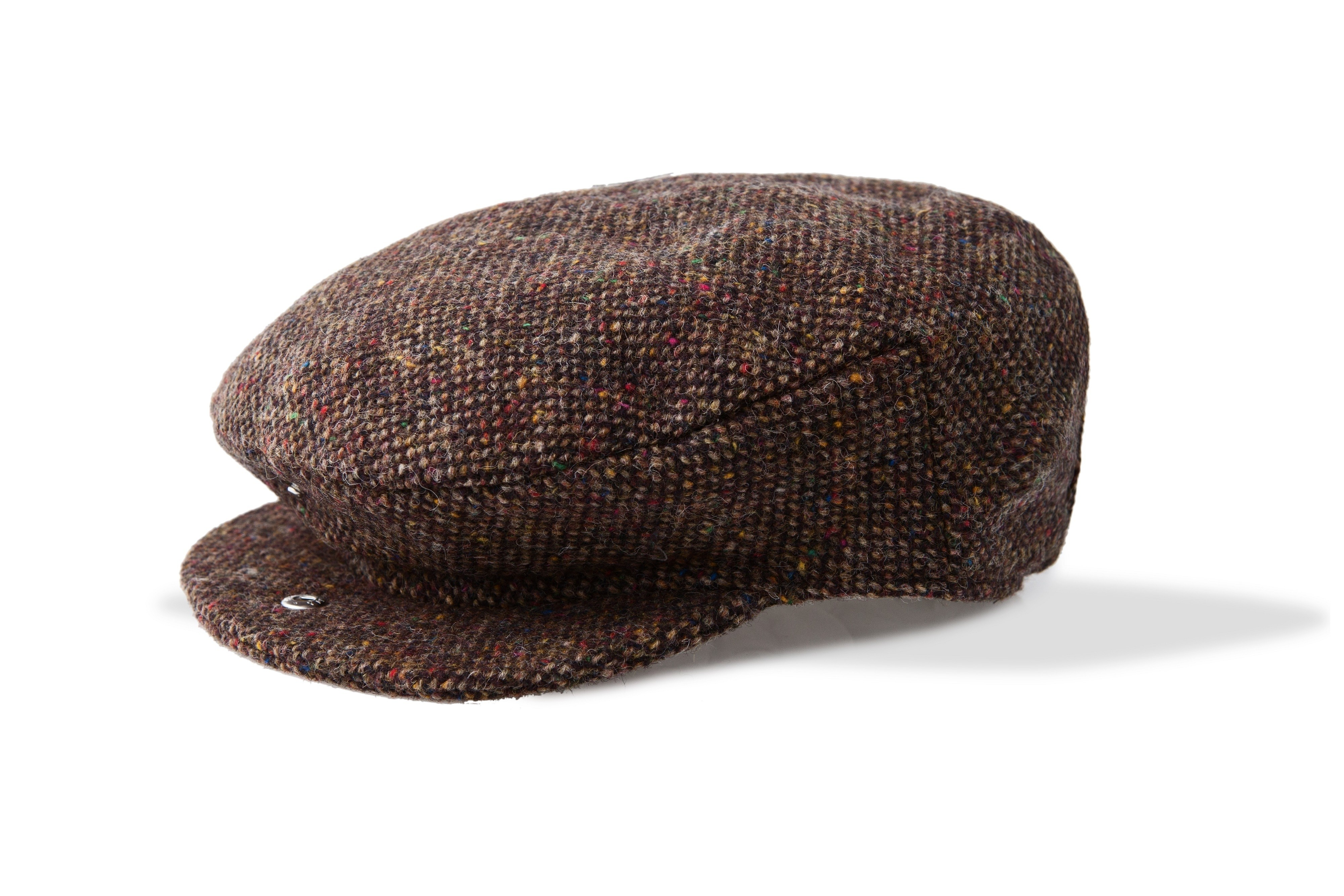 Mens Brown Tweed Irish Wool Cap