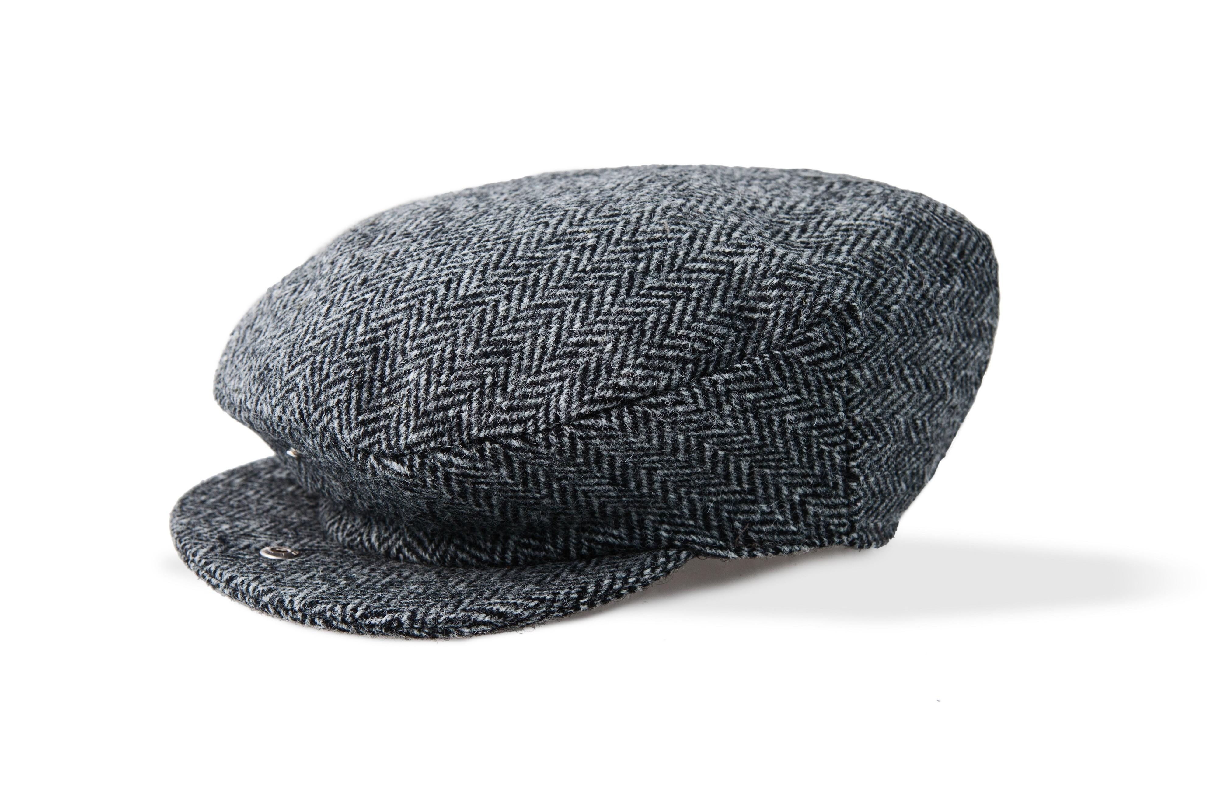 Mens Gray Irish Tweed Cap