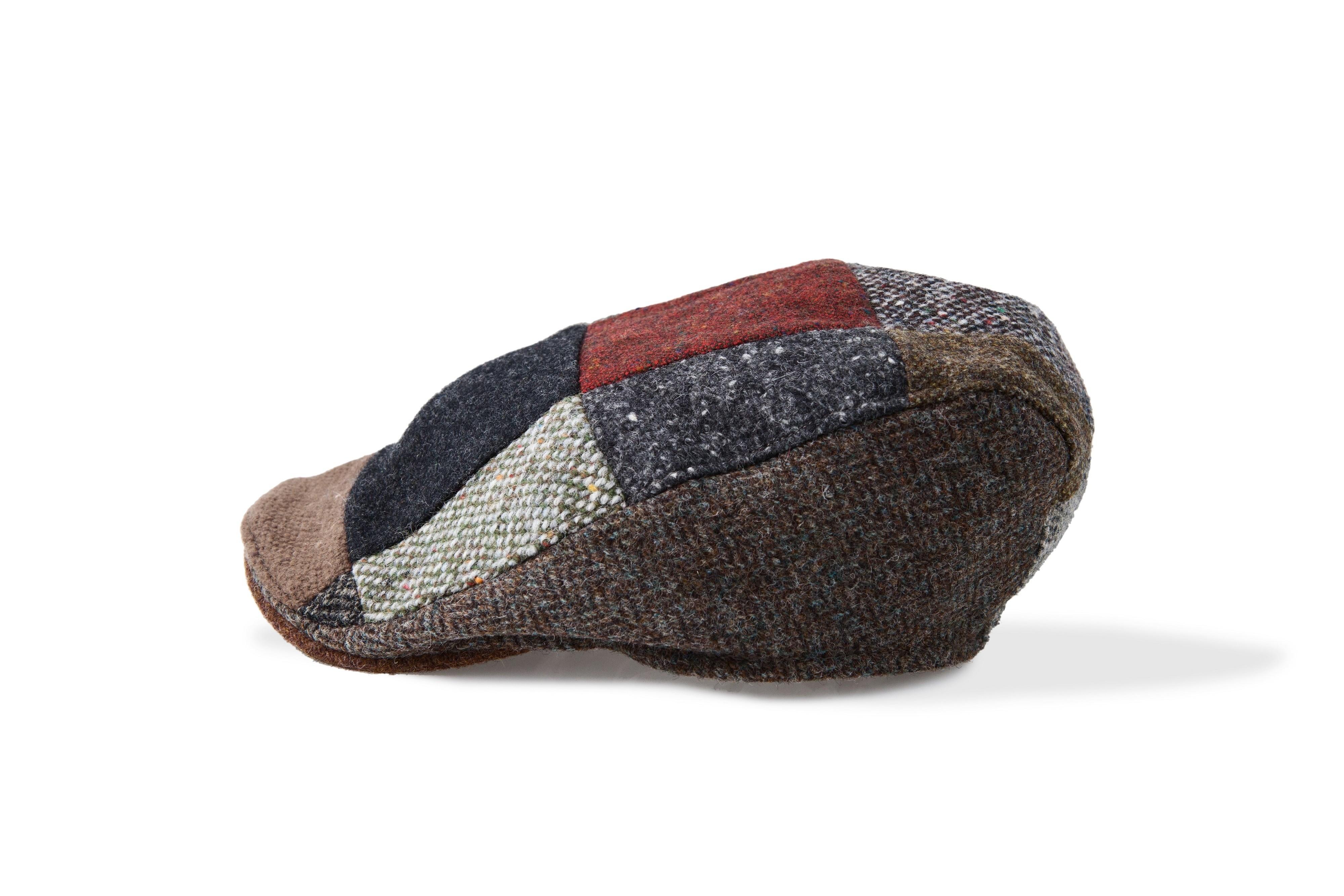 Men's Patchwork Wool Irish Fishermans Cap