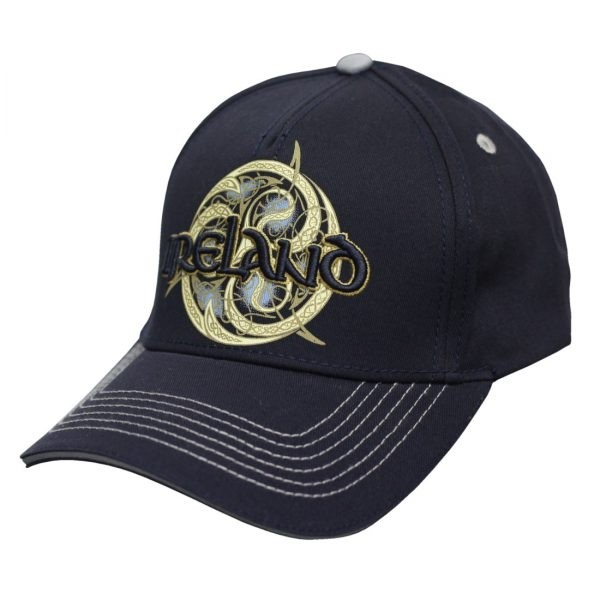 Navy Ireland Celtic Swirl Irish Baseball Cap
