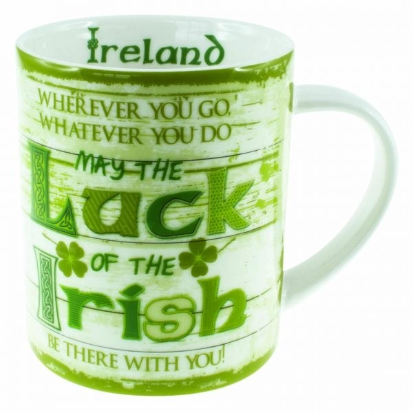 Rustic Ireland Irish Coffee Mug Luck of the Irish
