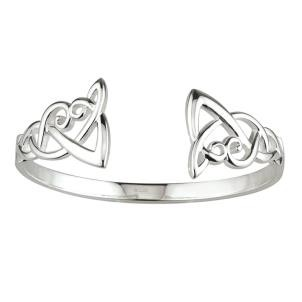 Irish Celtic Open Bangle Bracelet