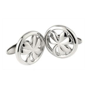 Irish Shamrock Mens Cufflinks