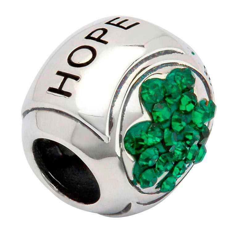 Shamrock Hope Irish Charm Bead