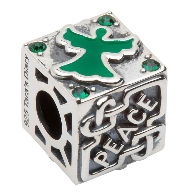 Silver Irish Celtic Angel Charm Bead