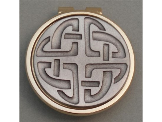 Silver Irish Celtic Knot  Money Clip
