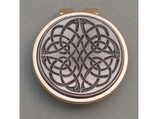 Silver Irish Celtic Swirl Money Clip