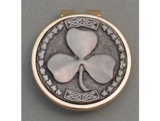 Silver Irish Shamrock Money Clip