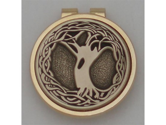 Silver Irish Tree of Life Money Clip