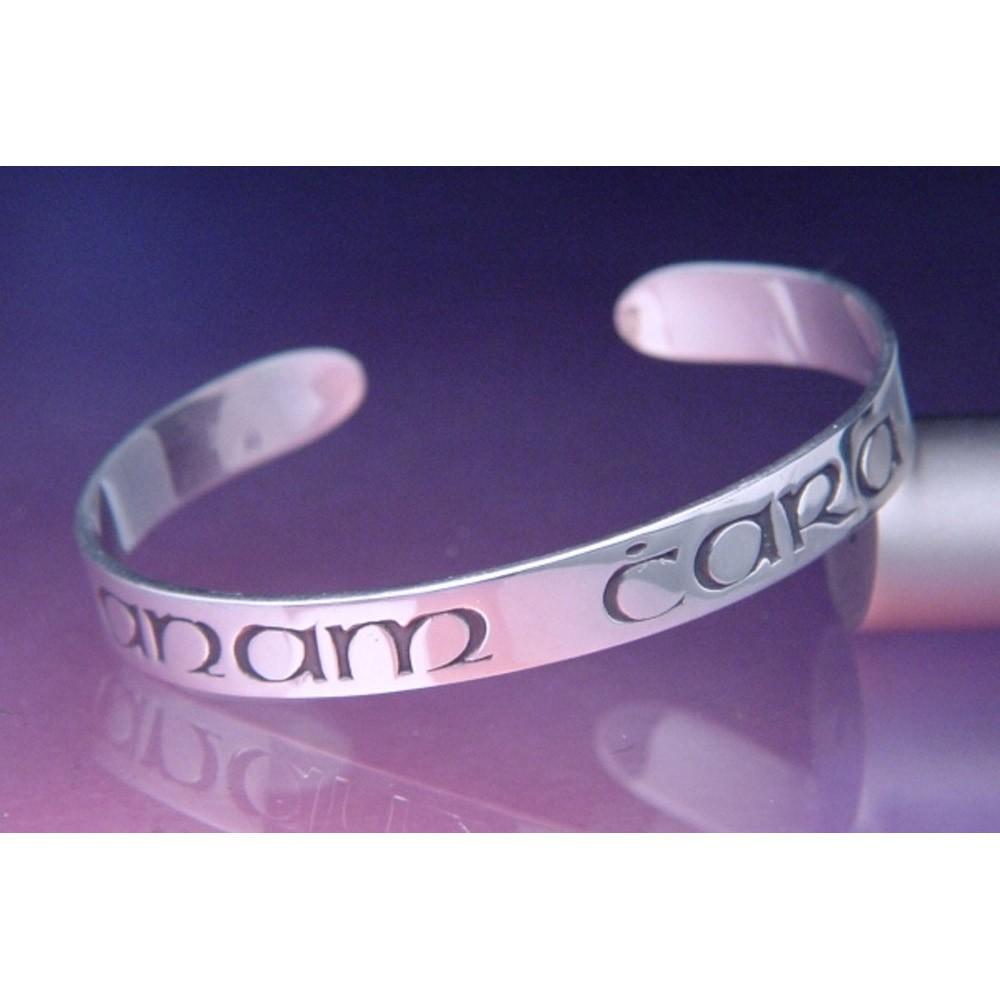 Gaelic Soul Friend Sterling Silver Cuff Bracelet
