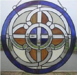 Stained Glass Irish Celtic Pathways Window Ornament