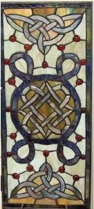 Stained Glass Irish Celtic Window Ornament