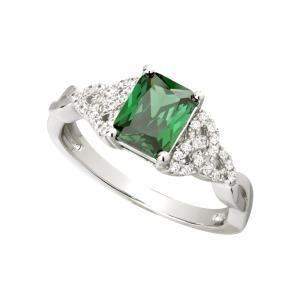 Sterling Silver CZ Trinity Knot Ladies Irish Ring