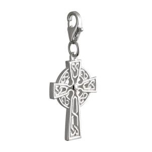 Sterling Silver Irish Celtic Cross Clip Charm