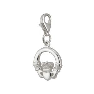 Sterling Silver Irish Claddagh Clip Charm