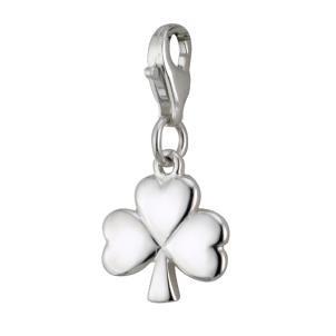Sterling Silver Irish Shamrock Clip Charm