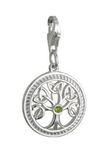 Sterling Silver Irish Tree of Life Clip Charm