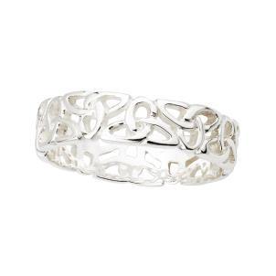 Sterling Silver Ladies Irish Trinity Ring