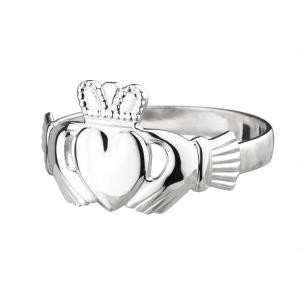 Sterling Silver Maids Irish Claddagh Ring