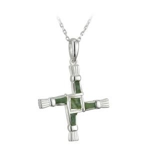 Sterling Silver Marble St Brigids Cross Pendant
