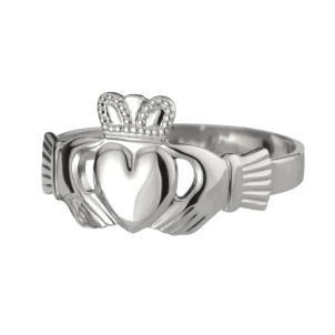 Sterling Silver Mens Heavy  Irish Claddagh Ring