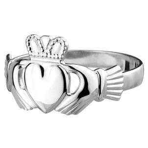Sterling Silver Mens Irish Claddagh Ring