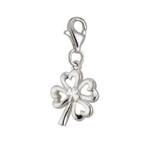 Sterling Silver Shamrock Clover Irish Charm