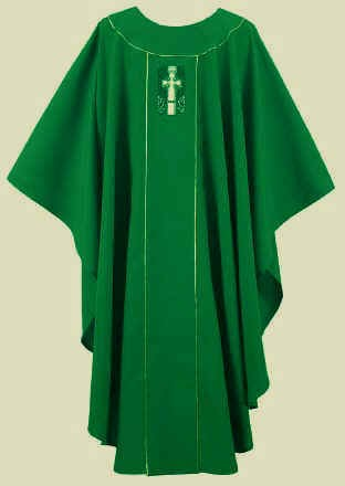 Green Gallagher Celtic Cross Chasuble